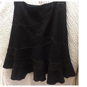 DKNY black denim skirt - 6